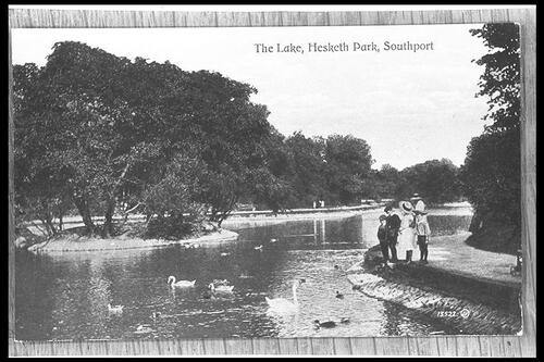 The Lake, Hesketh Park, Southport.