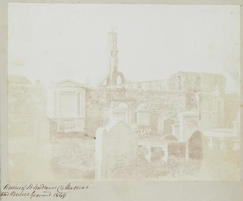 Ruins of St Andrews Cathedral and Burial Ground 1849