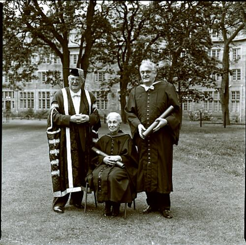 The Principal and honorary graduands after Graduation, University of St Andrews.