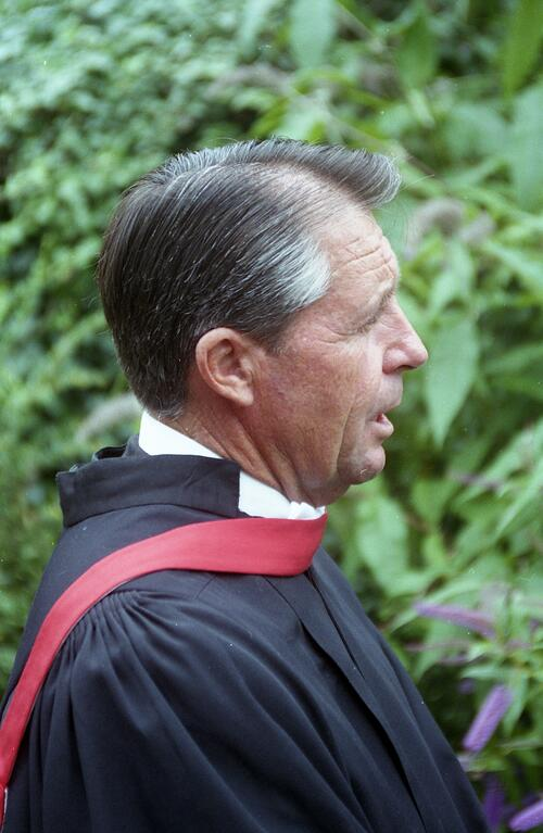 Honorary graduand, Gary Player, LL.D, after the graduation ceremony, University of St Andrews.