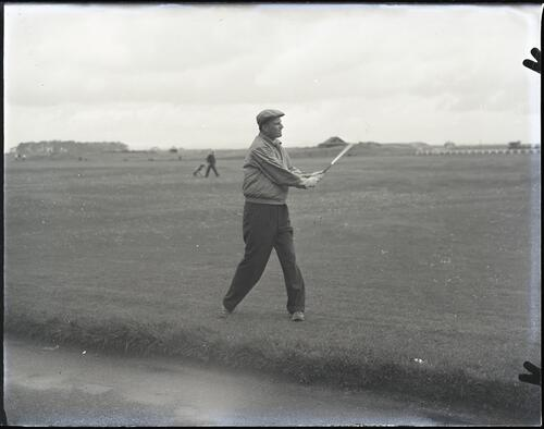 Billy Graham at the 17th green on the Old Course, St Andrews.