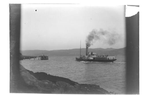 The Caledonia taking the Keppel Pier [Great Cumbrae].