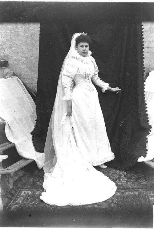 Study of a Wedding Dress No 1 - Jane Miller in the Wedding Dress.