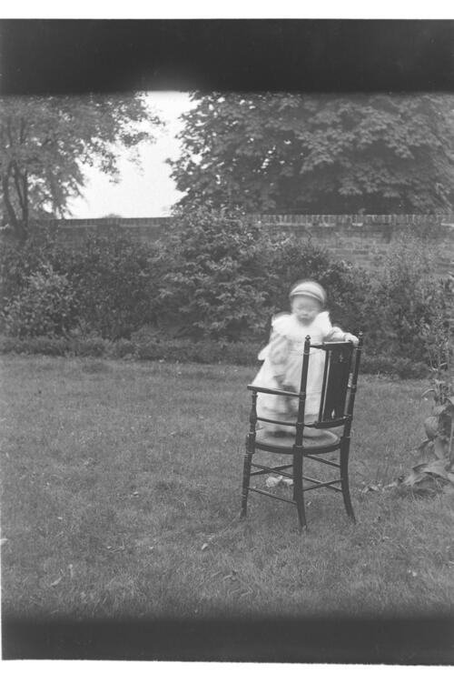 Ida Miller [in the garden at Cleveland Cottage] Isleworth.