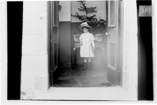 Ida [Miller, in the hall of Loch Maree House, Nairn].