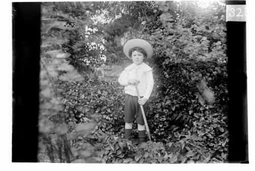 Fred [Miller in the garden, Cleveland Cottage, Isleworth].