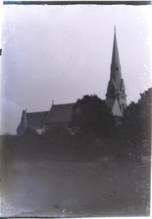 St Mary's Church, Spring Grove, Isleworth, Middlesex (taken through a pinhole).