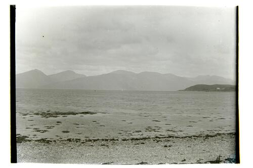 Morven and Loch Linnhe from Ardtur, Port Appin. Shuna on right.