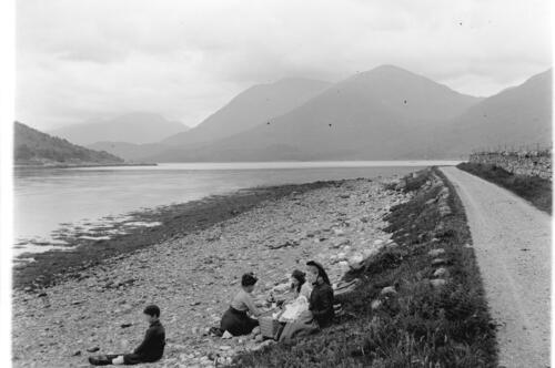 The family Picnic at Loch Creran [view looking east up the loch].