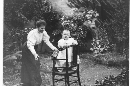 William [and Jane Miller, in the garden at Cleveland Cottage, Isleworth].