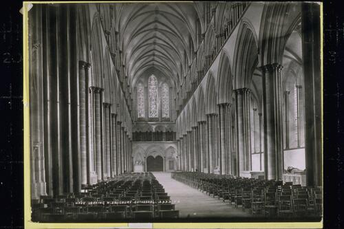 Nave Looking West, Salisbury Cathedral.
