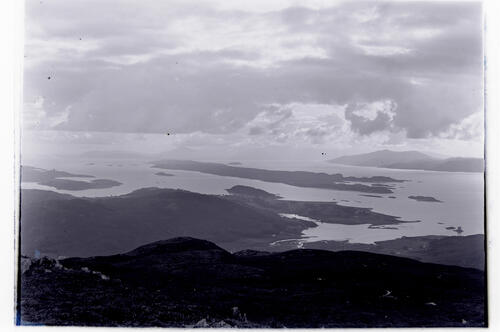 The view South West from Beinn (Ben) Donn - Ardtur and Stalker Castle in mid distance.