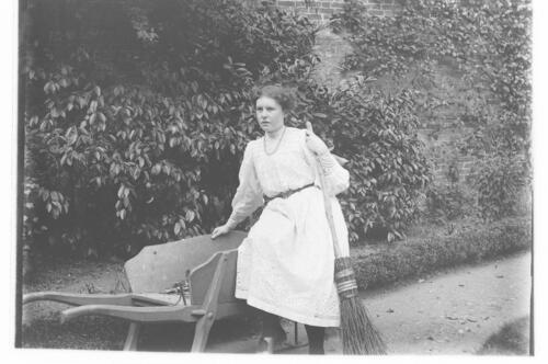 Ida [Miller in the garden at Cleveland Cottage, Isleworth].