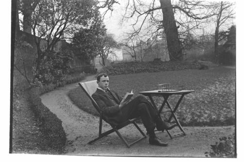 Fred [Miller] in the garden at Cleveland Cottage, Isleworth.