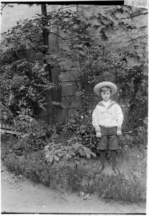 William [Miller in the garden at Cleveland Cottage, Isleworth].