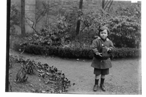 Austin [Miller in the garden at Cleveland Cottage, Isleworth].