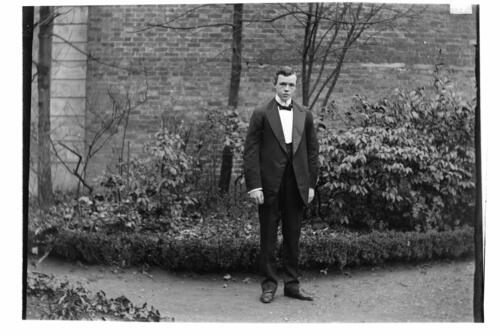 Fred [Miller in the garden at Cleveland Cottage, Isleworth].