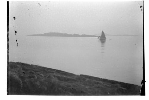 A boat sailing on Loch Sween.
