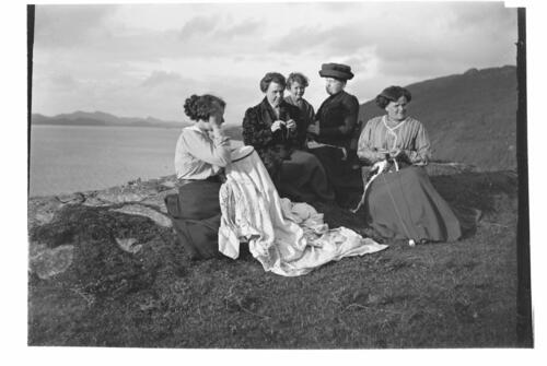 [The Millers and friends on the hills above Creag a Mhadaidh, Loch Sween].