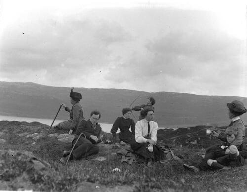 Miller family picnic near Old Ulva, Loch Sween