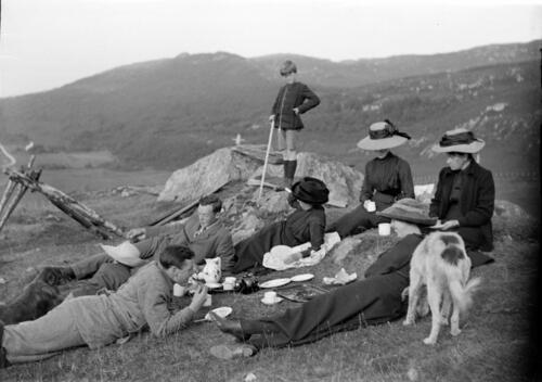 Picnic on top of the hill, Loch Sween