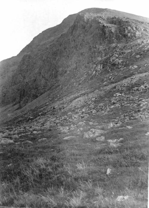 The Cliffs on the North side of Ben More, Mull (find the mountaineer).
