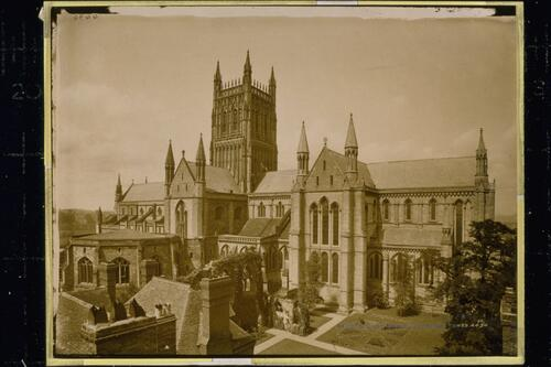 Worcester Cathedral from Edgar's Tower.