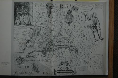 1608 map of Virgina, USA