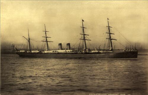 "White Star Liner ""Germanic"" [Liverpool]."