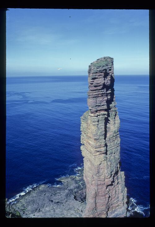 Old Man of Hoy, Orkney. Note figure to give scale!