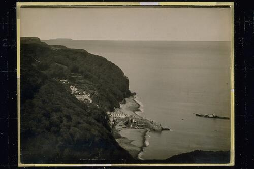 Clovelly from Hobby Seat.