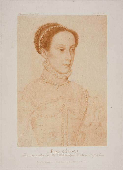 "Mary Stuart, from the portrait in the ""Bibliotheque Nationale"" of Paris."