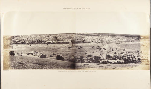 Panoramic View of the City, Jerusalem.