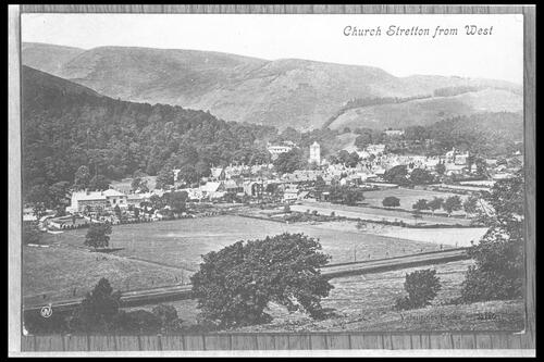 Church Stretton from west.