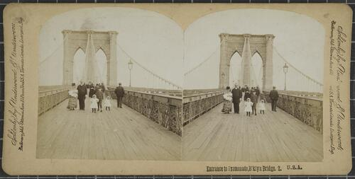 Entrance to Promenade, Brooklyn Bridge, USA