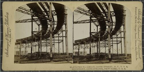 Elevated Railroad, 110th Street, New York USA
