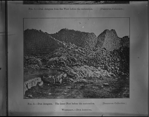 Fig. 2. - Dun Aengusa. The inner Fort before the restoration. (Dunraven collection)