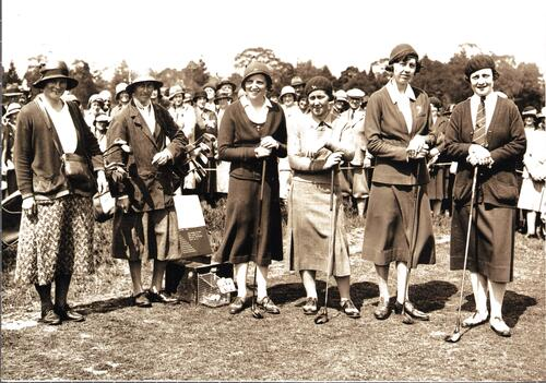 The Opening of the Ladies 18 hole course at Royal Ashdown Forest Ladies' Golf Club.