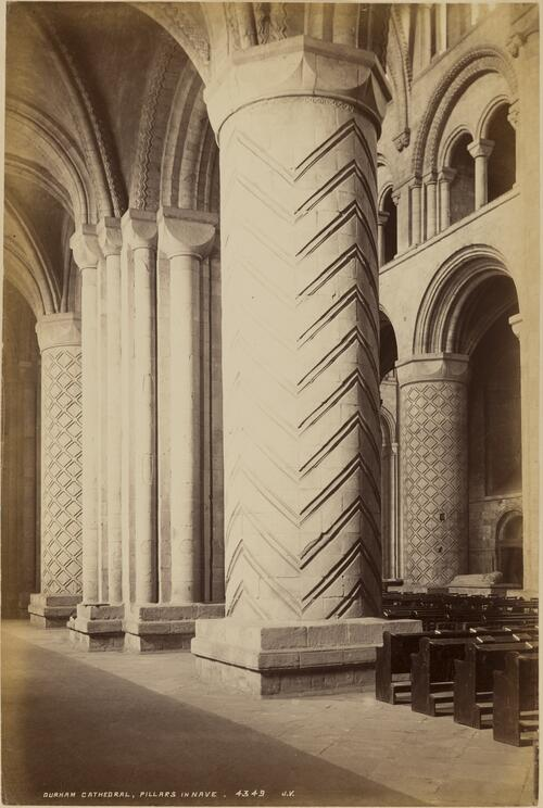 Pillars in Nave, Durham Cathedral.