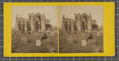 Melrose Abbey from East