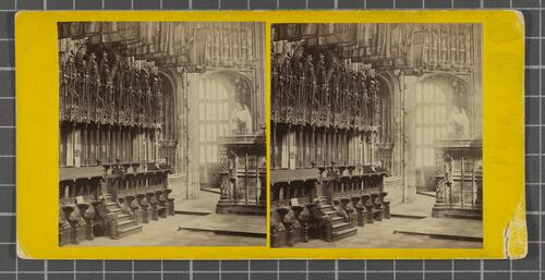 Interior of Henry VII's Chapel, Westminster Abbey - Stalls of the Knights of the Bath