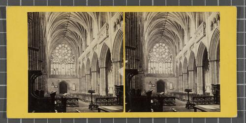 Interior of Exeter Cathedral - The Nave, looking West