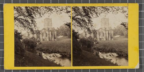 Fountain's Abbey, from Robin Hood's Well