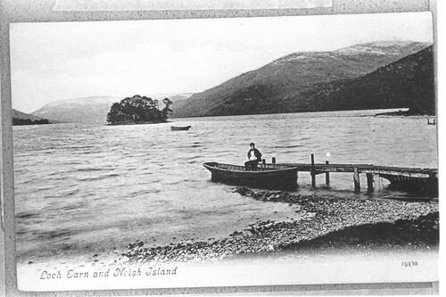 Loch Earn and Neish Island.