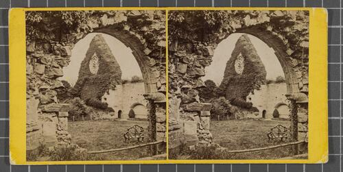 Dryburgh Abbey - the Reffectory Window and Cloisters