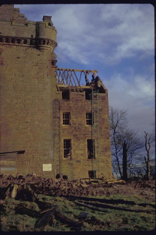 East wing, Inverquharity Castle.