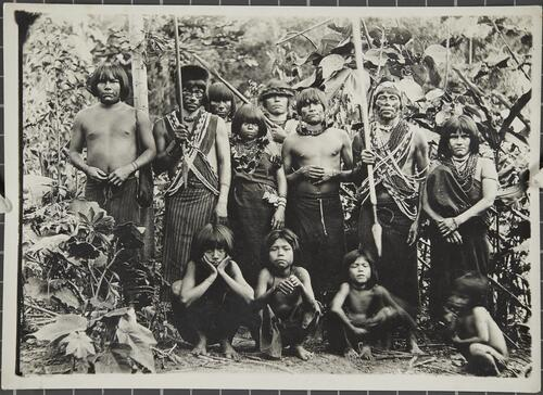 [Group portrait of a South American Indian tribe]