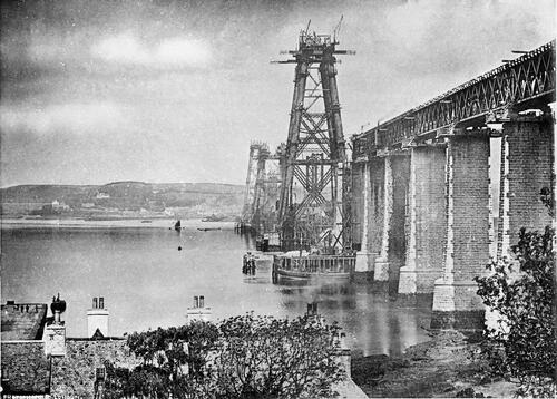 Queensferry viaduct at full height [Forth Bridge].