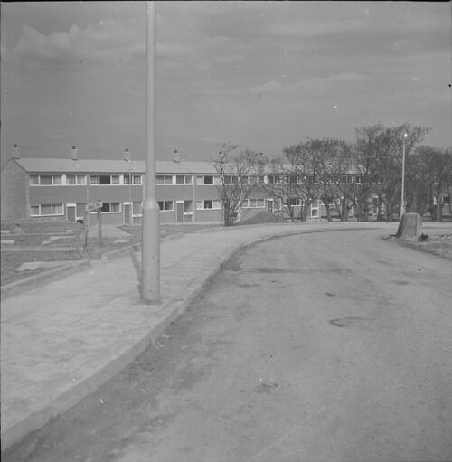 [East Kilbride - Westwood IX development, view of building with road]