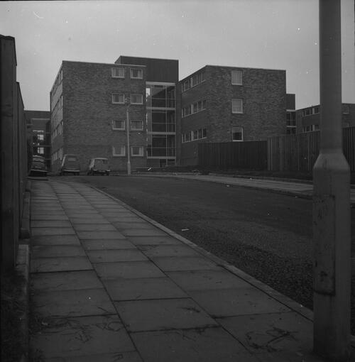 [East Kilbride - Westwood IX development, view of large residential block]